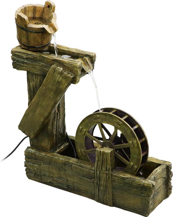 Фонтан с колесом Haomei Fountain кантри 70.5х23.5хh75
